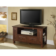 "Walker Edison Columbus 44"" TV Console, Brown - WQ44CMPTB"