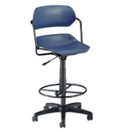 OFM Armless Swivel Chair with Drafting Kit - 200-DK