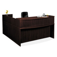 Basyx L-Shaped Reception Desk - BASPACKAGE2