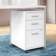 Kathy Ireland by Bush Method Collection 3-Drawer Mobile Pedestal White - KI70203