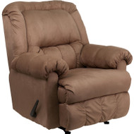 Flash Furniture Contemporary Padded Mocha Microfiber Rocker Recliner - HM-750-PADDED-MOCHA-GG