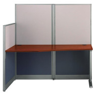 MONTHLY SPECIAL! Bush Furniture Office-in-an-Hour Straight Workstation with Panels - WC36492-03K