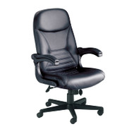 Mayline Comfort Series Big and Tall Pivot Arm Leather Chair 29W x 28D x 44-48H - 6446AGL