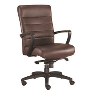 Eurotech by Raynor Manchester Mid-Back Brown Leather Chair - LE255-BRN
