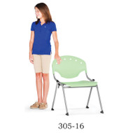 OFM Rico Student Stack Chair without Arms (Pack of 4) - 305-16