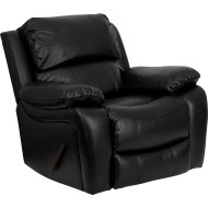 Flash Furniture Black Leather Large Rocker Recliner/Pillow - MEN-DA3439-91-BK-GG