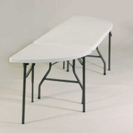 Correll Package FS-Series Blow-Molded Plastic Banquet Folding Tables - FS9