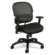 Basyx by HON Black Mesh Mid-Back Swivel / Tilt Work Chair - VL712MM10