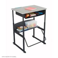 Safco Alphabetter Box Desk with Book Box - 1202BE
