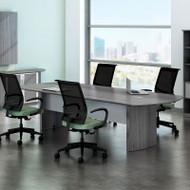 Mayline Medina Laminate Conference Table 8' Gray Steel - MNC8-LGS