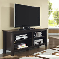 "Walker Edison Essential 58"" Wood TV Console, Espresso  - W58CSPES"