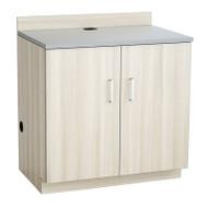 Safco Hospitality Base Cabinet, Two Door, Vanilla Stix/Gray- 1702VS