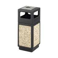Safco Canmeleon Aggregate Series 15 Gallon Receptacle with Side Opening and Urn - 9470