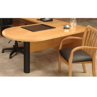 * MONTHLY SPECIAL! Mayline Luminary Peninsula Desk 72W x 36D x 29H Maple - PT3672M