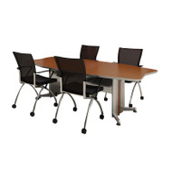 Mayline Transaction Series Conference Table 8' Boat Shaped - TAC8BB