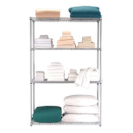"OFM Heavy Duty 4 Shelf Storage Unit 72""H x 18""D x 48""W - S487218"