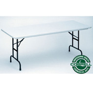 Correll R-Series Heavy Duty Blow-Molded Plastic Folding Table Adjustable Height 30 x 72  - RA3072