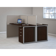 "BBF Bush Easy Office Straight Desk 60"" 2-Person with Mobile File Pedestals - EOD460SMR-03K"