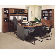 BBF Bush Series C Package Executive U-Shaped Bowfront Desk Hansen Cherry - HCPackageD