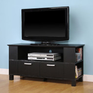 "Walker Edison Columbus 44"" TV Console, Black - W44CMPBL"