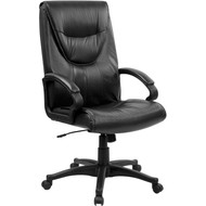 Flash Furniture High Back Black Leather Executive Office Chair - BT-238-BK-GG