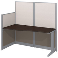 Bush Office-in-an-Hour Straight Workstation with Panels Mocha - WC36892-03K