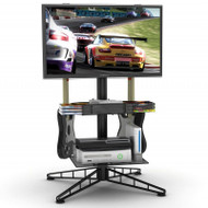 Atlantic Spyder TV Gaming Stand In Black - 88307053