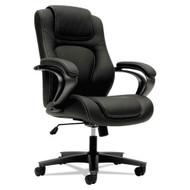 Basyx by HON Executive High-Back Chair Black Vinyl - VL402SB11