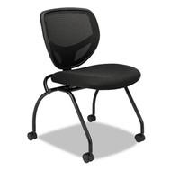 Basyx Black Mesh Back Nesting Chair (2-Pack) - VL302MM10