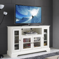 "Walker Edison Highboy 52"" TV Console, White - W52C32WH"