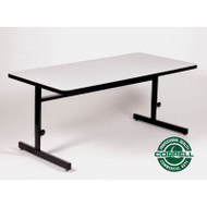 Correll High-Pressure Top Computer Desk or Training Table Adjustable Height 24 x 72 - CSA2472