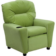 Flash Furniture Contemporary Kid's Recliner with Cup Holder Avocado Microfiber - BT-7950-KID-MIC-AVO-GG