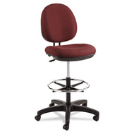 Alera Interval Series Swivel Task Stool, Burgundy - IN4631