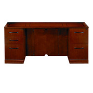 "Mayline Sorrento Double Pedestal Credenza 72"" with One Pencil/Box/File, One File/File Pedestal Bourbon Cherry - SCBF72-SCR"