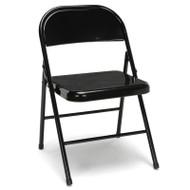 OFM Essentials Metal Folding Chairs, Black (4-Pack) - ESS-8200-BLK