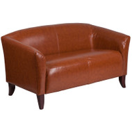 MONTHLY SPECIAL! Flash Furniture Hercules Imperial Series Cognac LeatherSoft Loveseat - 111-2-CG-GG
