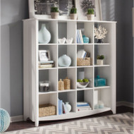 Bush My Space Aero Bookcase / Room Divider 16-Cubed White - MY16103-03