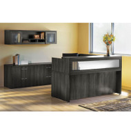 Mayline Aberdeen Reception Desk L-Shaped Package Gray Steel - AT37-LGS