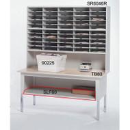 """Mayline Mailflow-To-Go Work Table Shelf, 60""""W - SLF60"""