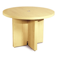 "* MONTHLY SPECIAL! Mayline Aberdeen Conference Table Round 42"" Maple - ACTR42-LMA"