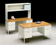 HON Metro Classic Series Desk, Credenza and Stack-on Shelf Package - METROPackageB
