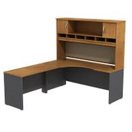BBF Bush Series C Package Executive L-Shaped Desk Left Natural Cherry - SRC002NCL