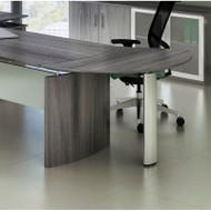 Mayline Medina Curved Desk Extension Left Gray Steel - MNEXTL-LGS