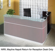 Mayline Napoli Veneer Return for NRS Reception Desk Mahogany - NRR