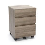 OFM Essentials 3-Drawer Mobile Pedestal Driftwood - ESS-1030-DWD