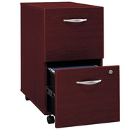 BBF Bush Series C Mobile File Cabinet 2-Drawer Mahogany - WC36752