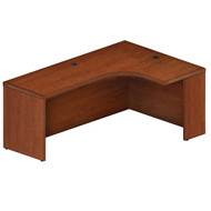 """* MONTHLY SPECIAL! Mayline Aberdeen Extended Corner Desk Table 72"""" Right Cherry Finish - AEC72R-LCR"""