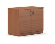 Mayline Brighton Storage Cabinet 36W x 20D x 29H Mocha Finish- BTSC