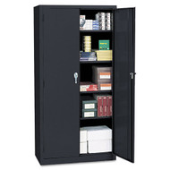 "Alera Economy Assembled Storage Cabinet 72""H X 18""D, Black - 80169BK"