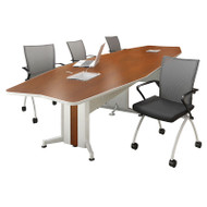 Mayline Transaction Series Conference Table 12' Boat Shaped Technology Intensive - TAC12TB